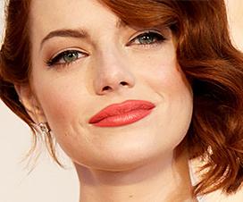 эмма стоун, оскар,макияж с оскара, макияж с красной дорожки, модный макияж, коралловый макияж, коралловые губы