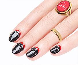 Rouge Louboutin Starlight, лак для ногтей, кристиан лабутен, красный лак для ногтей