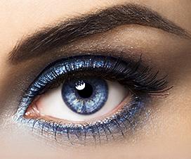макияж для голубых глаз, красивый эффектный выразительный стильный макияж для голубых глаз,