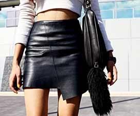 С чем одеть кожаную юбку